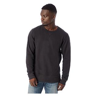Alternative Apparel Mens Reversible B Side Vintage French Terry Crewneck