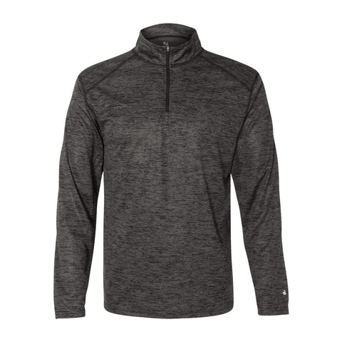 Badger Adult Adult Tonal Blend Performance Quarter Zip Long Sleeve Pullover