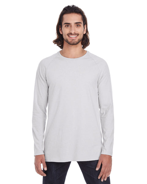 Anvil Adult Lightweight Long & Lean Raglan Long Sleeve T-Shirt