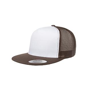 Yupoong Adult Classic Trucker with White Front Panel Cap