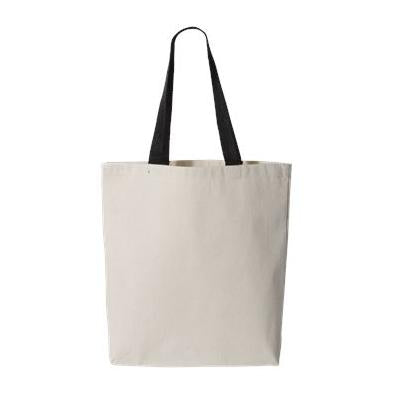Q-Tees 11L Canvas Tote With Color Handles