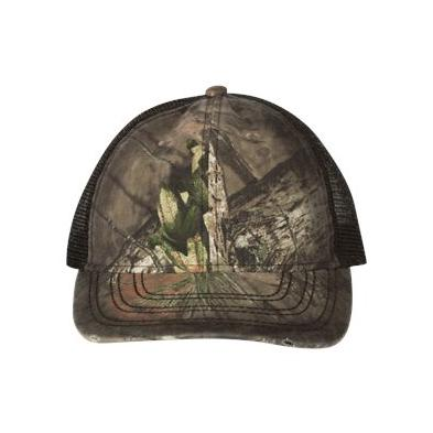Outdoor Cap Oil Stained Camo Trucker Cap