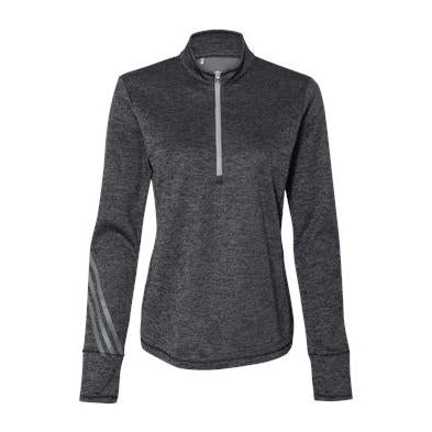 Adidas Women's Brushed Terry Heather Quarter Zip