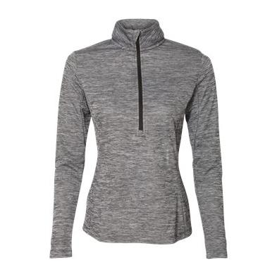 Russell Athletic Women's Striated Quarter Zip Pullover