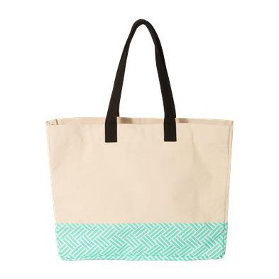 Brookson Bay Patterned Bottom Beach Tote