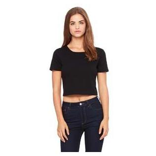 Bella + Canvas Ladies Poly Cotton Crop T-Shirt