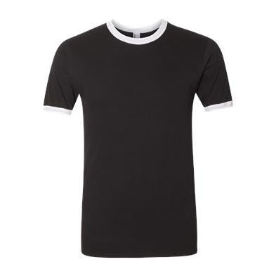 American Apparel Unisex Unisex Fine Jersey Ringer T-Shirt