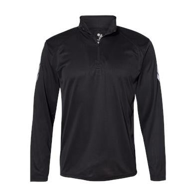 Badger Metallic Print Quarter Zip Pullover