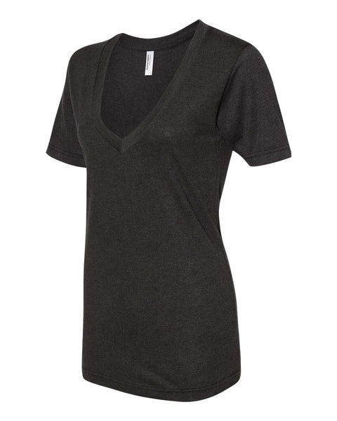 American Apparel Unisex Triblend Deep V Neck Tee