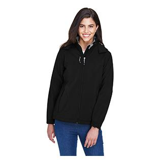Ash City - North End Ladies Glacier Insulated Three Layer Fleece Bonded Soft Shell Jacket with Detachable Hood