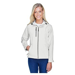 Ash City - North End Ladies Prospect Two Layer Fleece Bonded Soft Shell Hooded Jacket