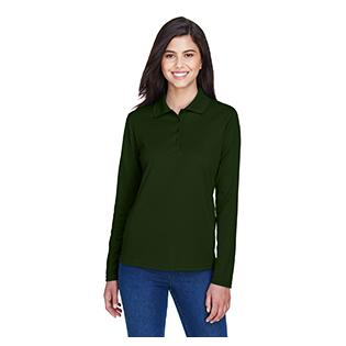 Ash City - Core 365 Ladies Pinnacle Performance Long Sleeve Piqu Polo