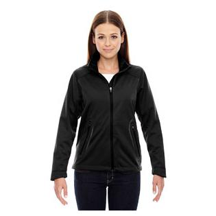 Ash City - North End Sport Red Ladies Splice Three Layer Light Bonded Soft Shell Jacket with Laser Welding
