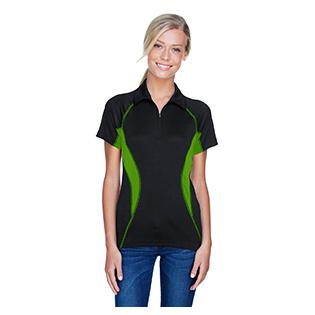Ash City - North End Sport Red Ladies Serac UTK Cool.Logik Performance Zippered Polo