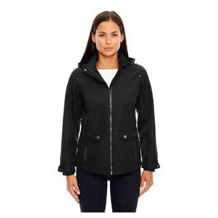 Ash City - North End Sport Blue Ladies Uptown Three Layer Light Bonded City Textured Soft Shell Jacket