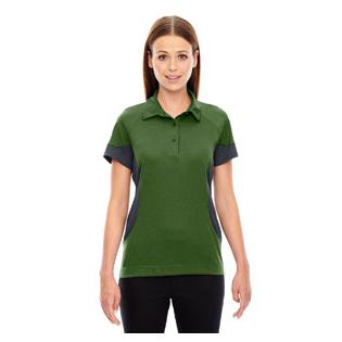 Ash City - North End Sport Red Ladies Refresh UTK Cool.Logik Coffee Performance Mlange Jersey Polo