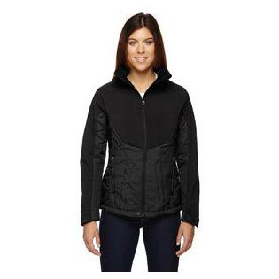 Ash City - North End Sport Red Ladies Innovate Insulated Hybrid Soft Shell Jacket