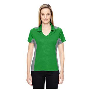 Ash City - North End Sport Red Ladies Reflex UTK Cool.Logik Performance Embossed Print Polo