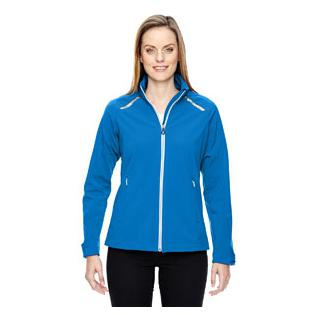 Ash City - North End Sport Red Ladies Excursion Soft Shell Jacket with Laser Stitch Accents