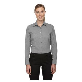 Ash City - North End Sport Blue Ladies Melange Performance Shirt