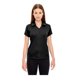 Ash City - North End Sport Red Ladies Exhilarate Coffee Charcoal Performance Polo with Back Pocket