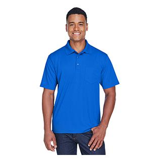 UltraClub Adult Cool & Dry Mesh Piqu Polo with Pocket