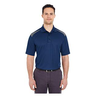 UltraClub Adult Cool & Dry Two Tone Mesh Piqu Polo