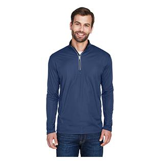 UltraClub Mens Cool & Dry Sport Quarter Zip Pullover