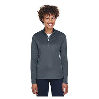 UltraClub Ladies Cool & Dry Sport Quarter Zip Pullover
