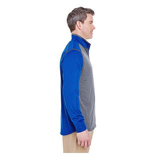 UltraClub Adult Cool & Dry Sport Two Tone Quarter Zip Pullover