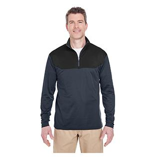 UltraClub Adult Cool & Dry Sport Colorblock Quarter Zip Pullover