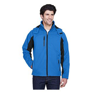 UltraClub Adult Colorblock 3 in 1 Systems Hooded Soft Shell Jacket