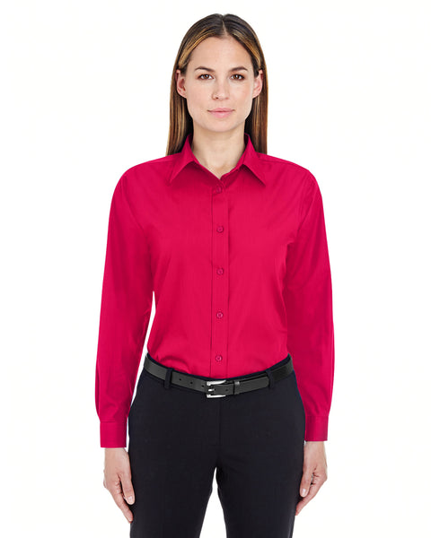 UltraClub Ladies Performance Poplin