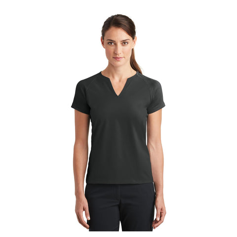 Nike Golf Ladies Dri FIT Stretch Woven V Neck Top