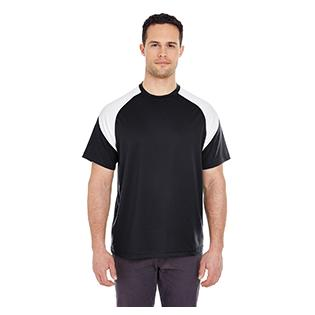 UltraClub Adult Cool & Dry Sport Colorblock T-Shirt
