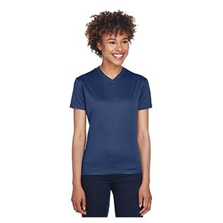 UltraClub Ladies Cool & Dry Sport V Neck T-Shirt