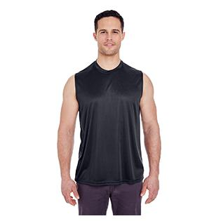 UltraClub Adult Cool & Dry Sport Performance Interlock Sleeveless T-Shirt