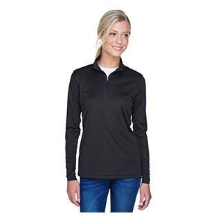 UltraClub Ladies Cool & Dry Sport Performance Interlock Quarter Zip Pullover