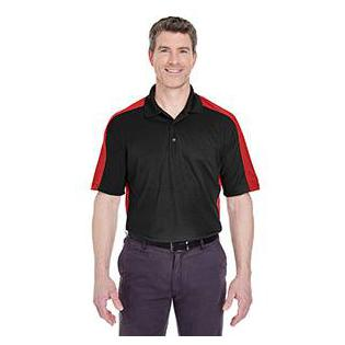 UltraClub Adult Cool & Dry Stain Release Two Tone Performance Polo