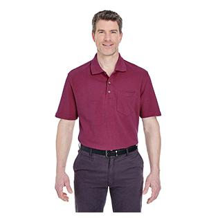 UltraClub Adult Classic Piqu Polo with Pocket