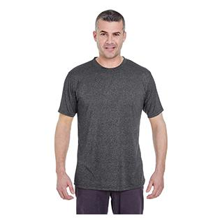 UltraClub Mens Cool & Dry Heathered Performance T-Shirt