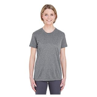 UltraClub Ladies Cool & Dry Heathered Performance T-Shirt