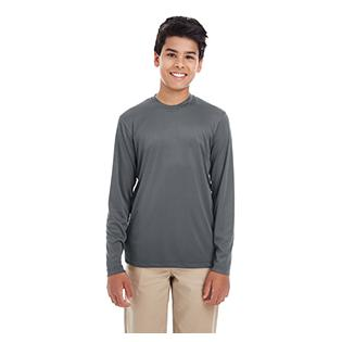 UltraClub Youth Cool & Dry Performance Long Sleeve T-Shirt
