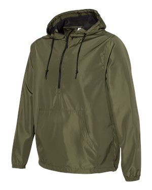 Independent Trading Co Lightweight Windbreaker Pullover Jacket