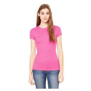 Bella + Canvas Ladies Sheer Mini Rib Short Sleeve T-Shirt