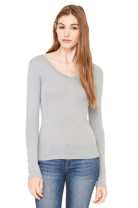 Bella + Canvas Bella Long-Sleeve V-Neck