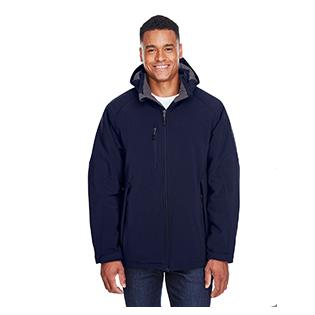 Ash City - North End Mens Glacier Insulated Three Layer Fleece Bonded Soft Shell Jacket with Detachable Hood
