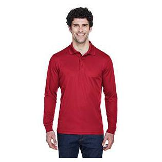 Ash City - Core 365 Mens Pinnacle Performance Long Sleeve Piqu Polo