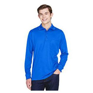 Ash City - Core 365 Adult Pinnacle Performance Piqu Long Sleeve Polo with Pocket