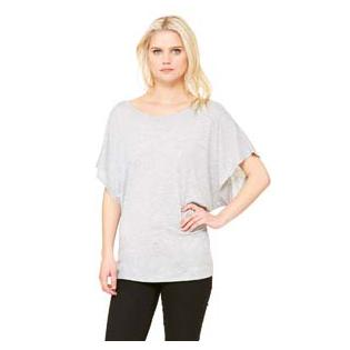 Bella + Canvas Ladies Flowy Draped Sleeve Dolman T-Shirt
